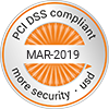 PCI-DSS compliant - MAR-2019 - more security
